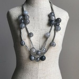 Unique Woven Necklace with Glass Beads
